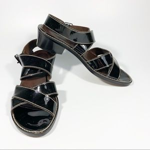 Donald J Pliner / Patent Leather Strappy Sandals